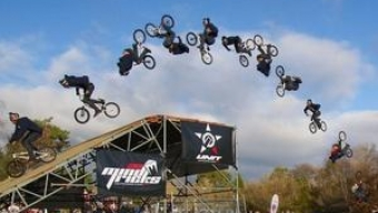 Triple backflip on a BMX