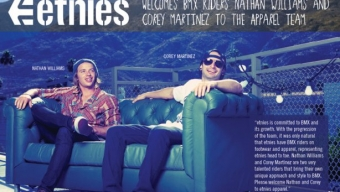 Etnies.com Apparel Welcomes Nathan Williams & Corey Martinez