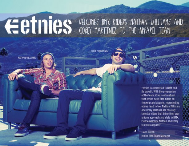 nr etnies bmx head to toe willams and martinez.jpg blog Etnies.com Apparel Welcomes Nathan Williams & Corey Martinez