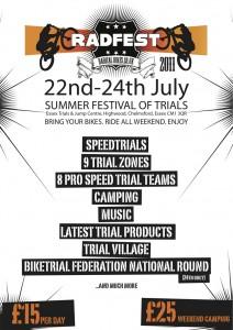 radfest poster1 212x300 Radfest Bike Trials Festival 2011
