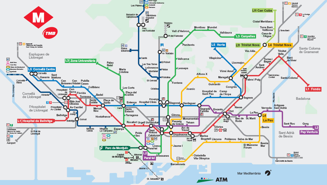 Barcelona Metro plan | Street Ride.co.uk