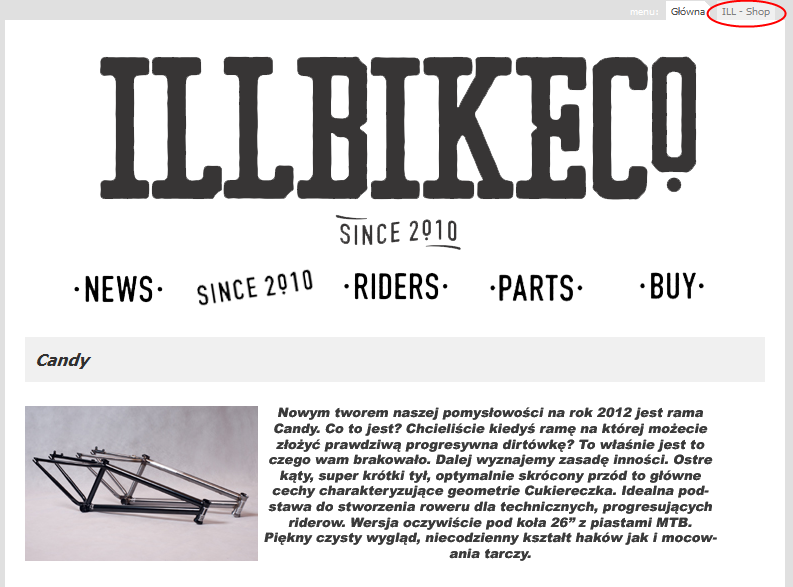 ill bike shop ILL Bikes Launch New Website