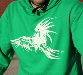 PhoenixRidersCo Green Hoodie Phoenix Riders Co